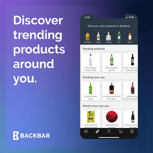 Backbar Product Explore Screen