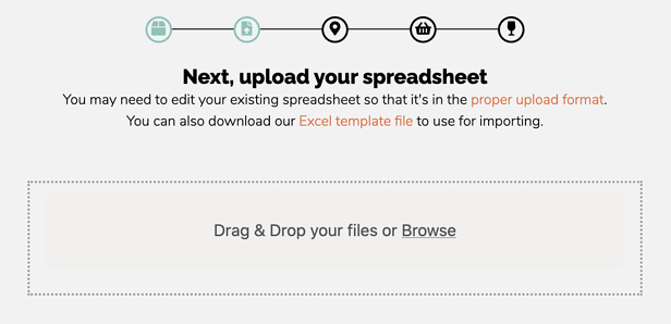 Upload Spreadsheet