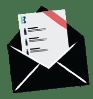 Illustration of mailing envelope