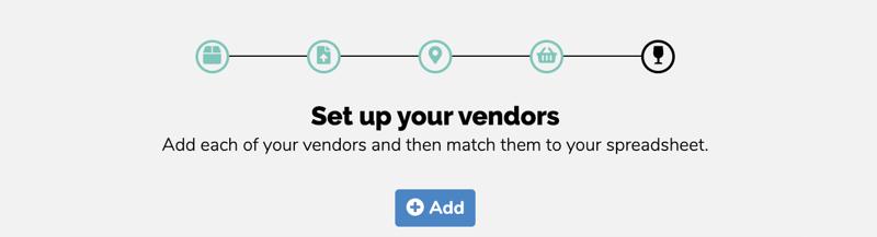 set up vendors