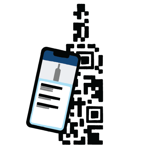 QR Code Digital Menu Illustration