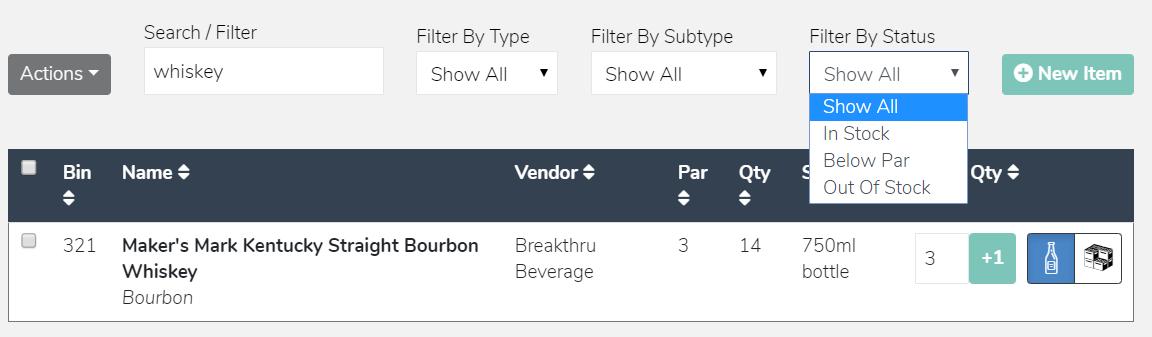 Build Orders Filters