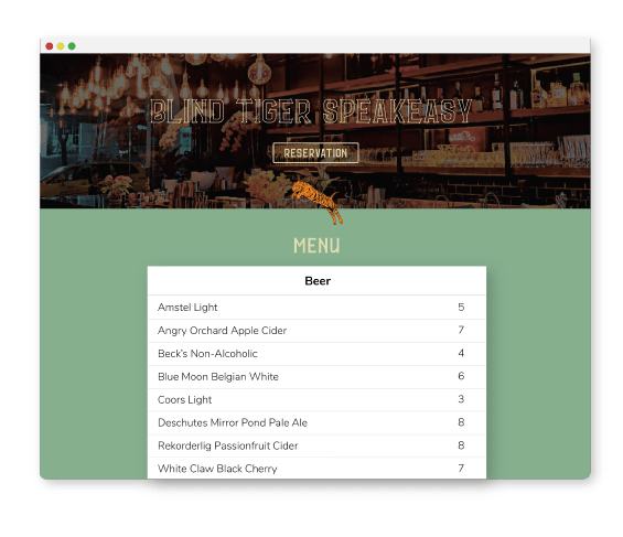 Easily Embed Menus on Your Website